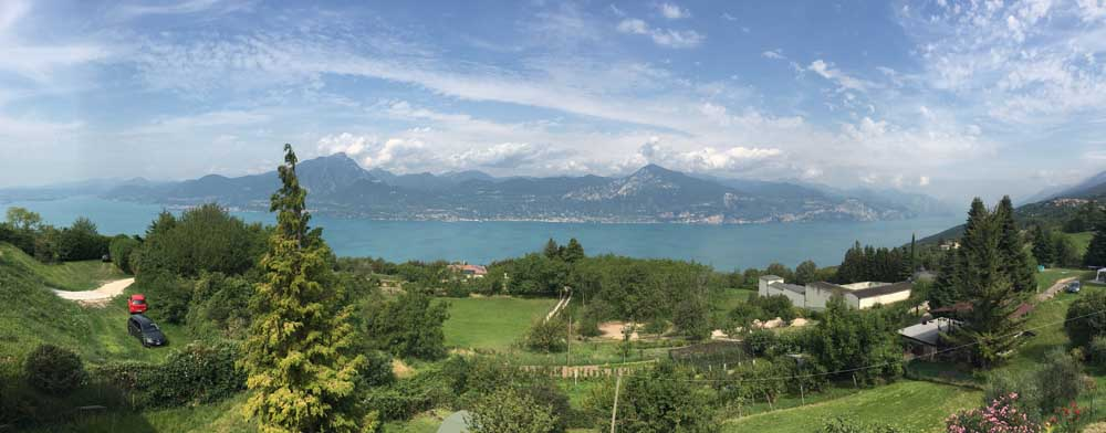 View of Lake Garda from San Zeno di Montagna