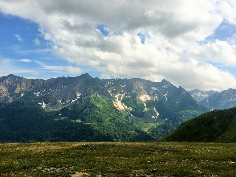 Views at the Gotthard Pass on our European family road trip