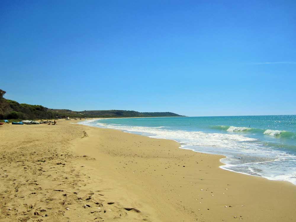 Sandy beach in Sicily