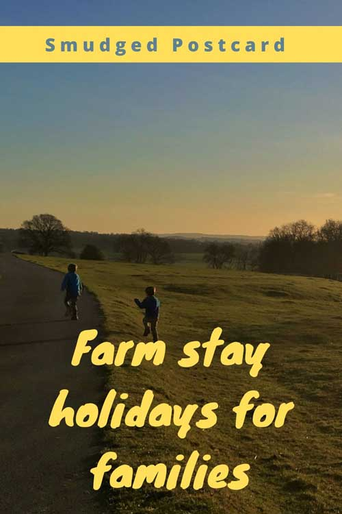 family farm holidays in the UK