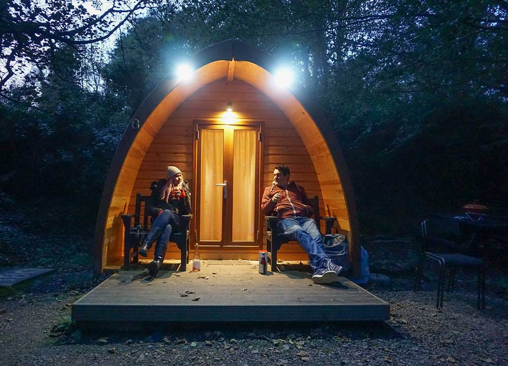 Castle Ward glamping pod in Northern Ireland