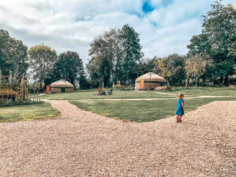 Glamping yurts with kids in the Cotswolds