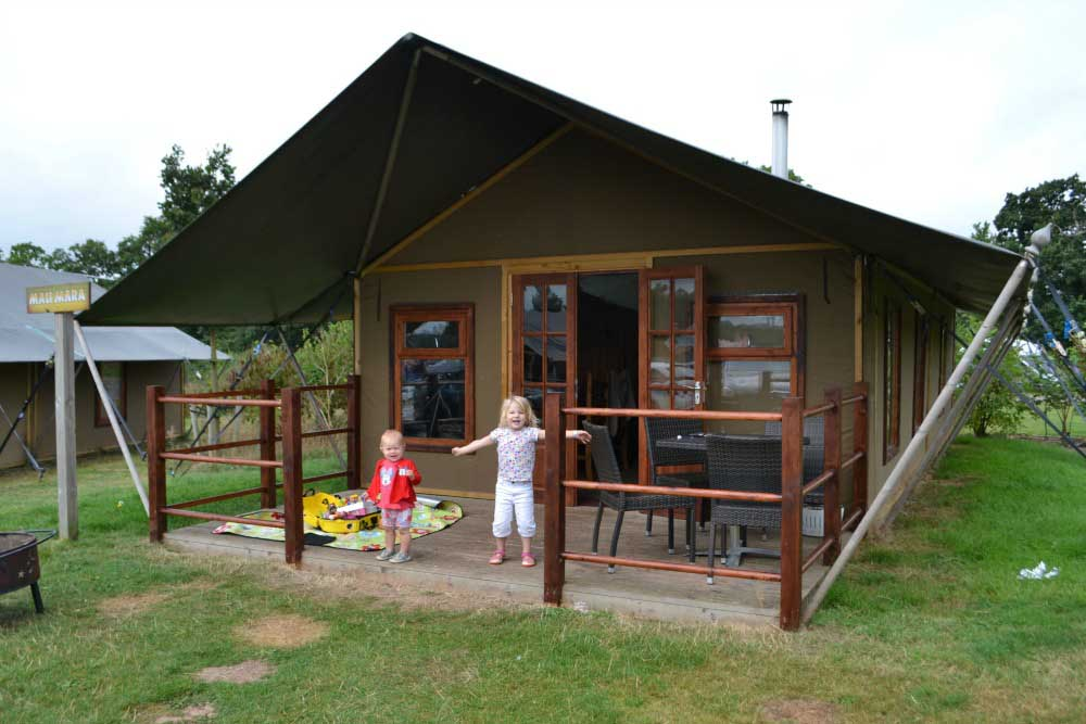 Glamping with kids in Devon