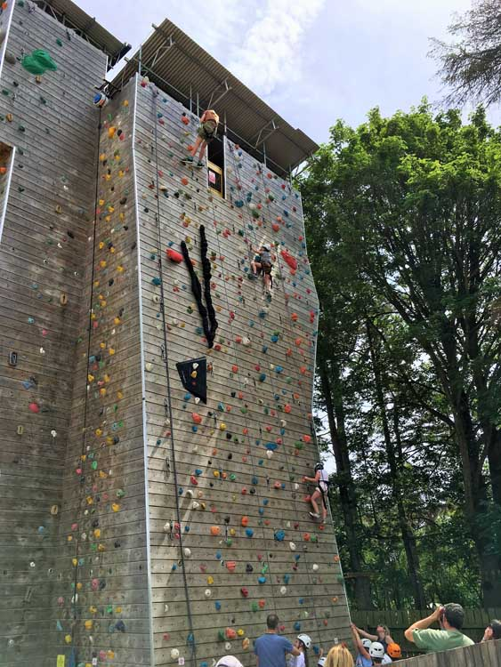Climbing wall in the Cotswolds