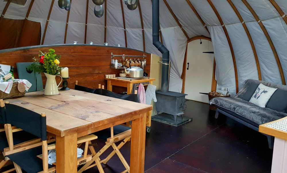 glamping with kids in Wales