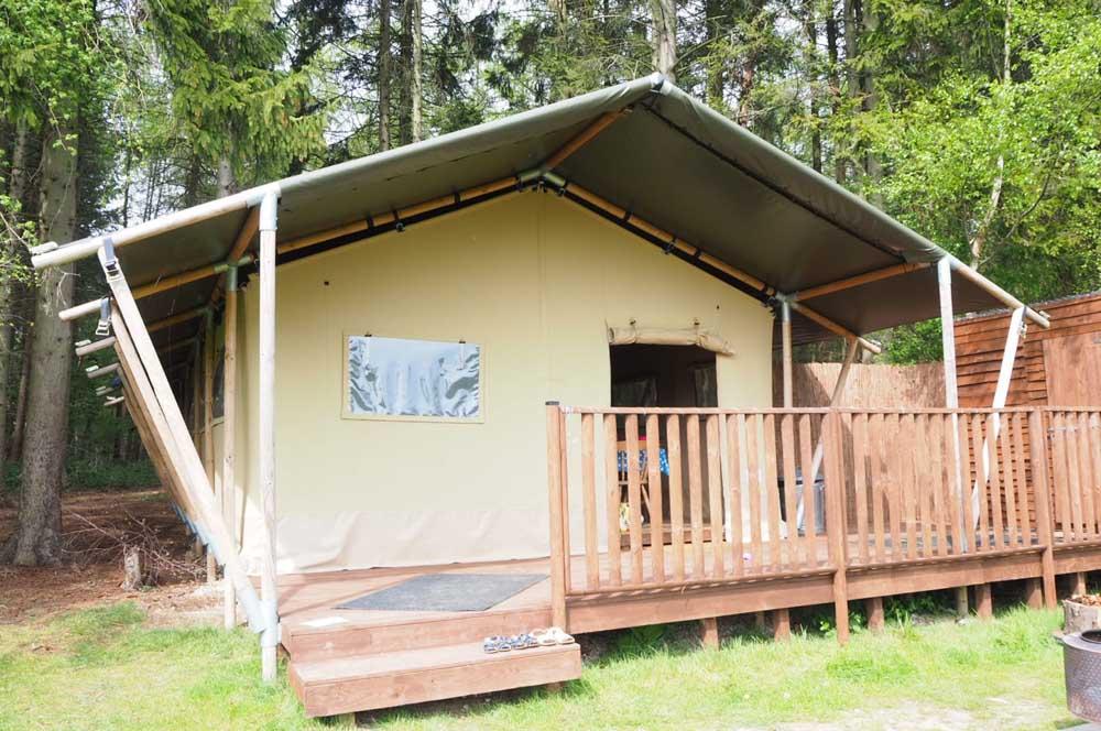 Camp Katur glamping safari tent in Yorkshire