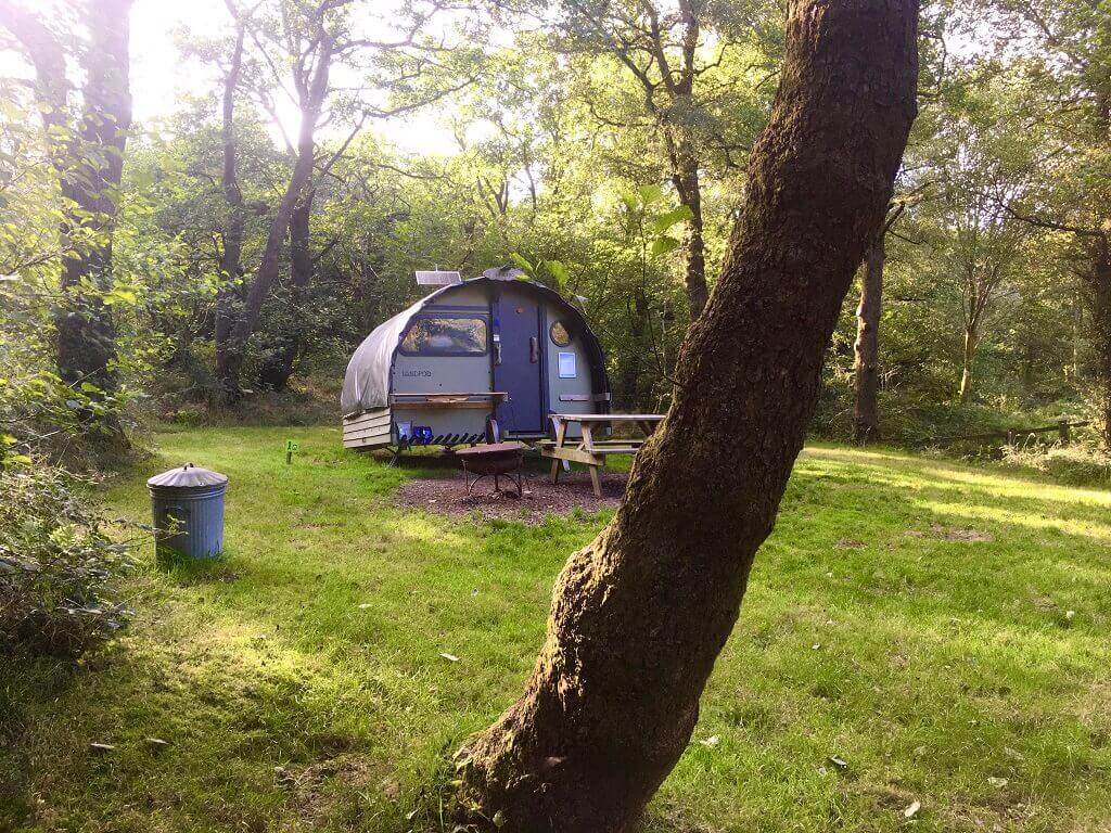 glamping pod in the Brecon Beacons
