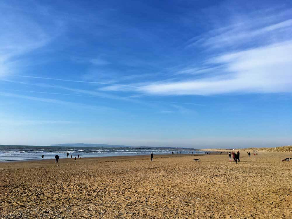 UK family beach holiday at Camber Sands