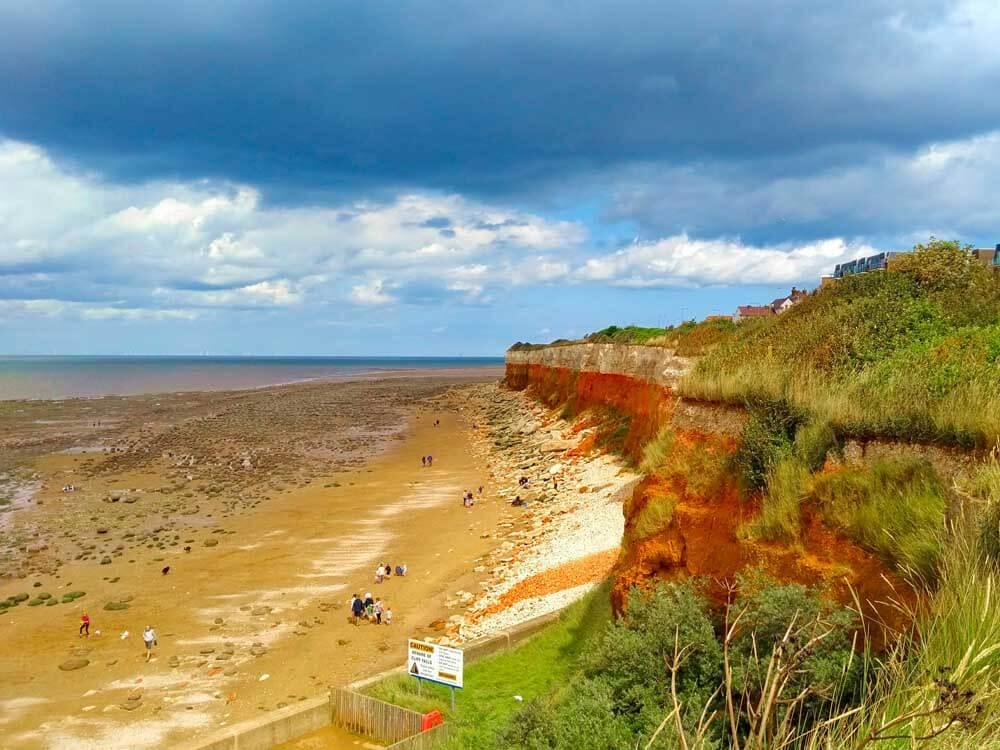 Cliffs of UK beach Hunstanton in Norfolk
