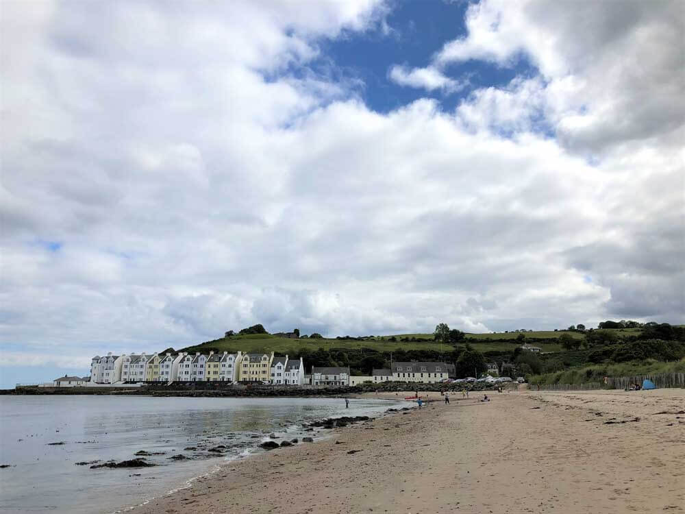 Cushendun village with beach