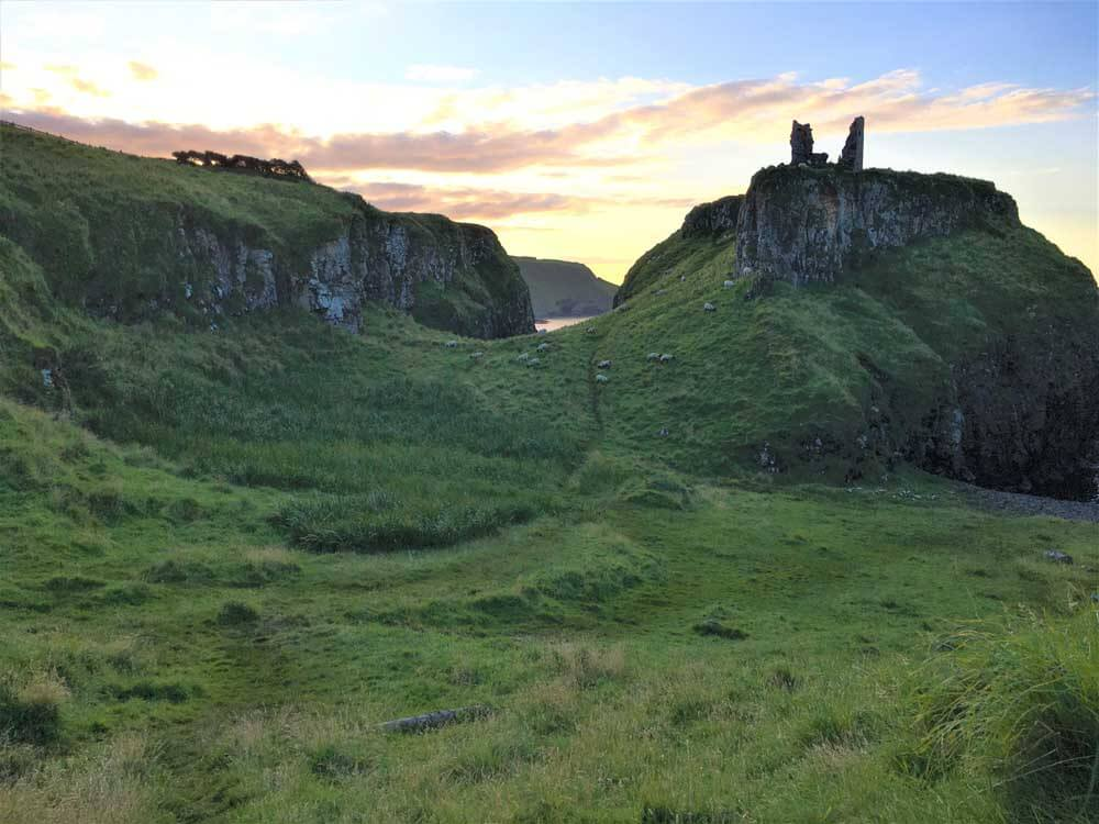 Dunseverick ruins on the Antrim Coast