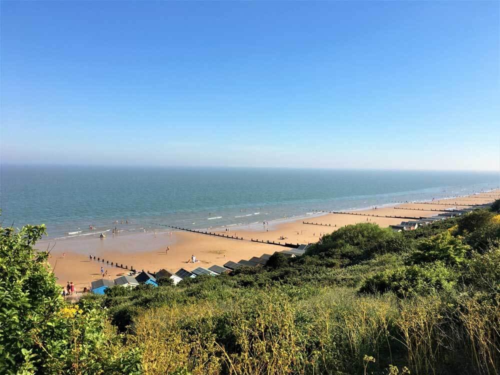 View of UK seaside Frinton on Sea in Essex
