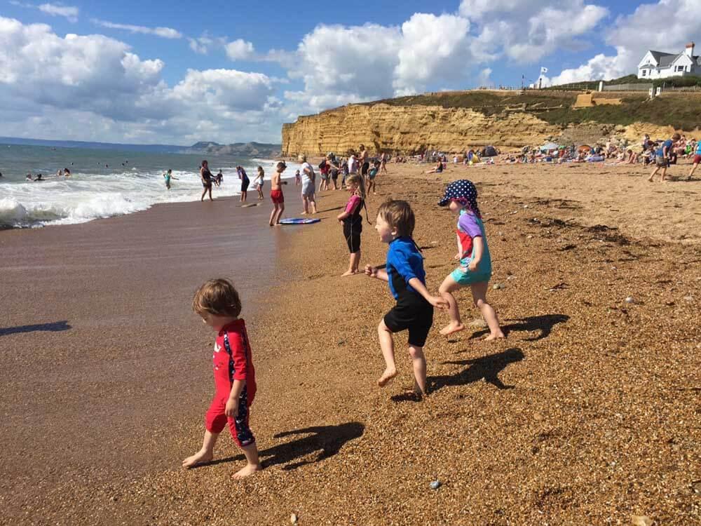 Children playing at Hive Beach UK