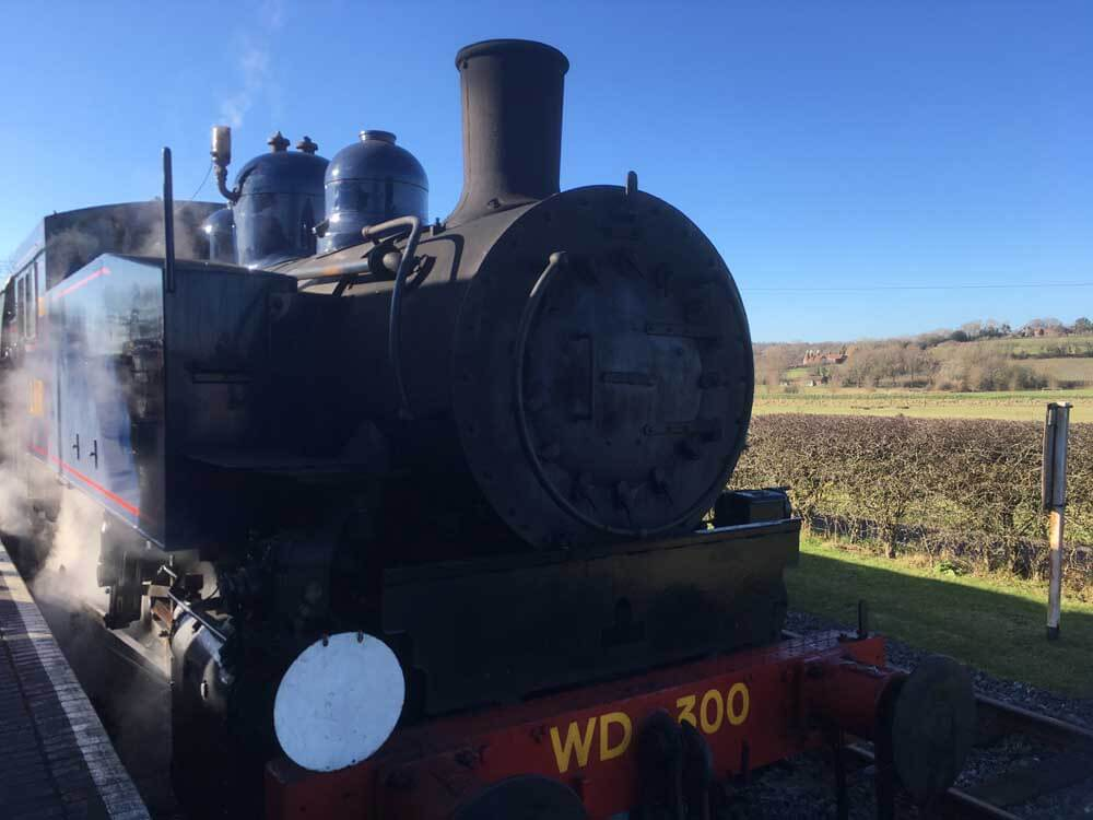 Steam train from the Kent and East Sussex Railway: Bodiam