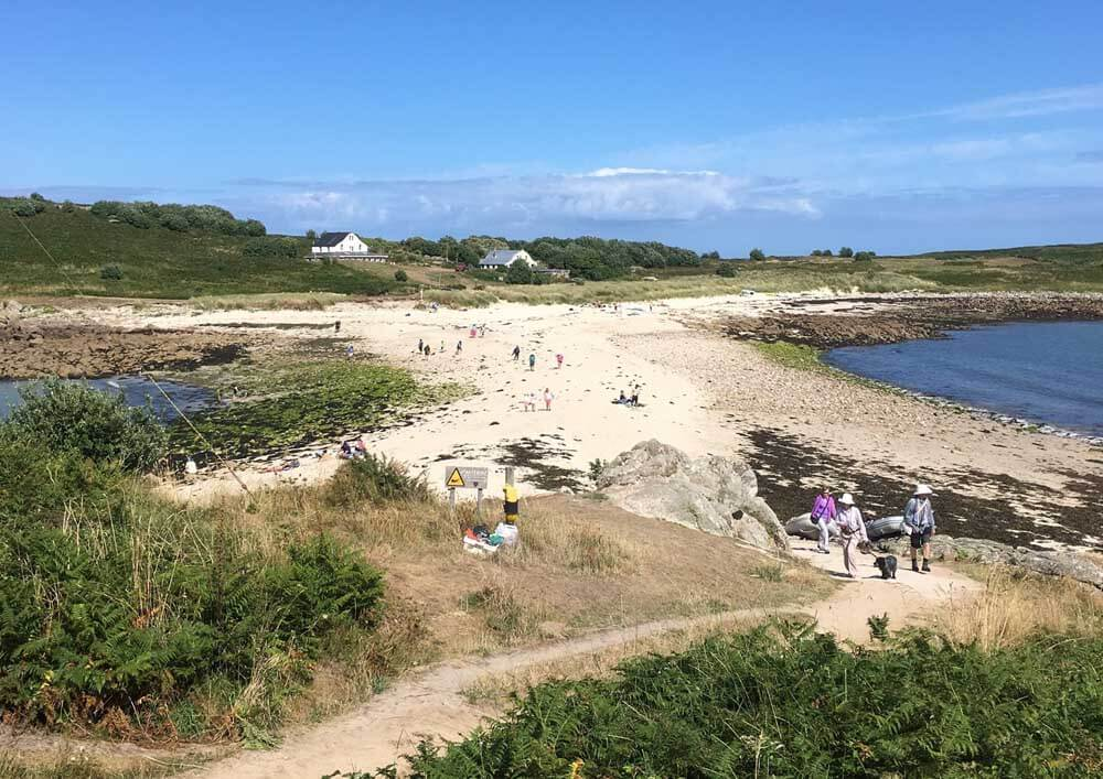 Sand bar at St Agnes Scilly Isles