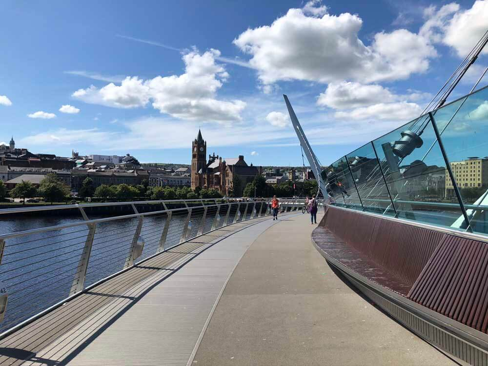 Peace Bridge Derry Londonderry