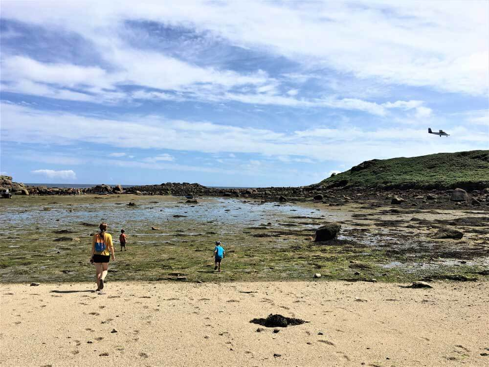 family beach holiday on the Scilly Isles