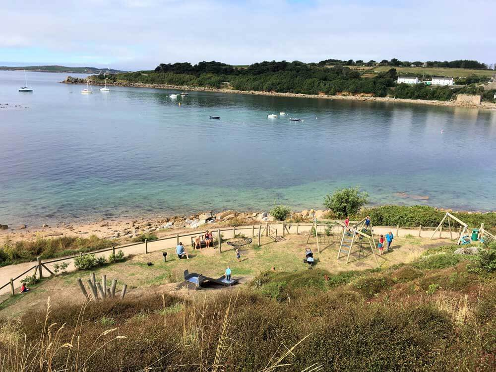play ground by the sea Scilly Isles