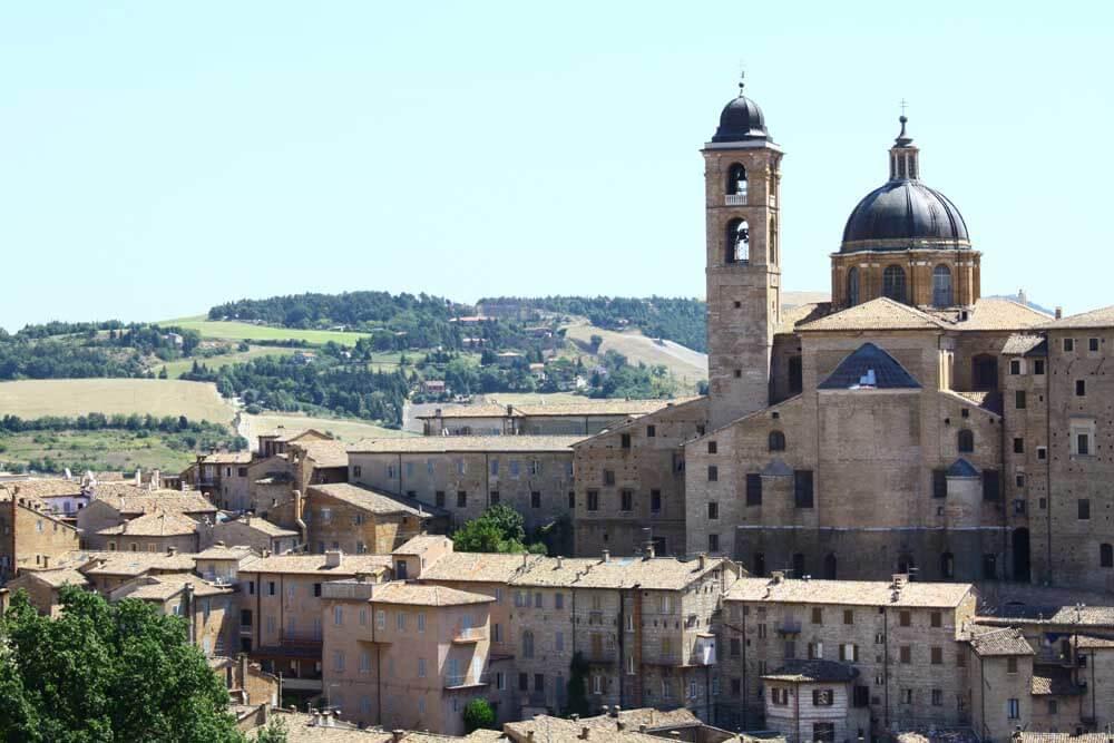 View of Urbino le marche italy