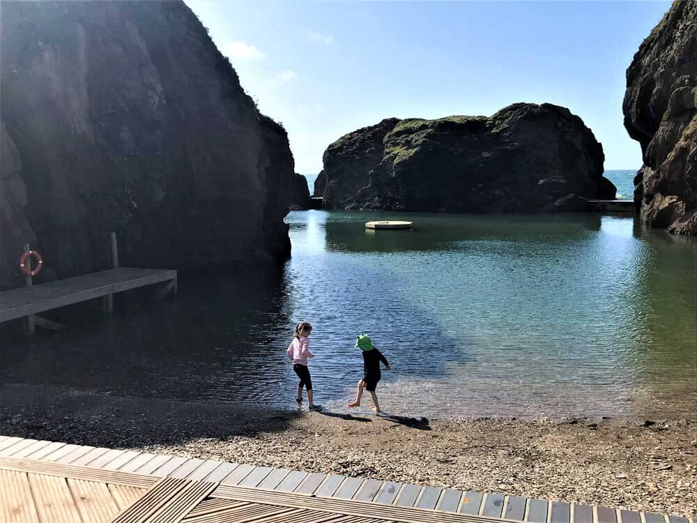 beach syrrounded by cliffs at Burgh Island in Devon