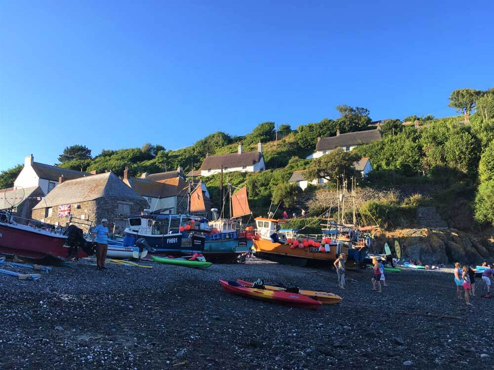 fishing boats at Cadgwith Cove