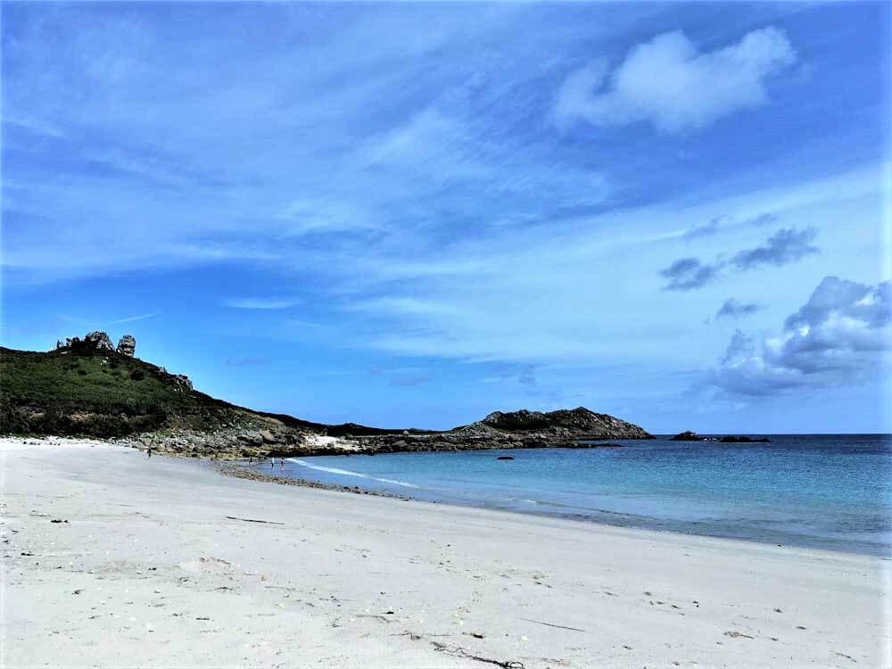uk beach holiday at Great Bay on St Martins Isles of Scilly