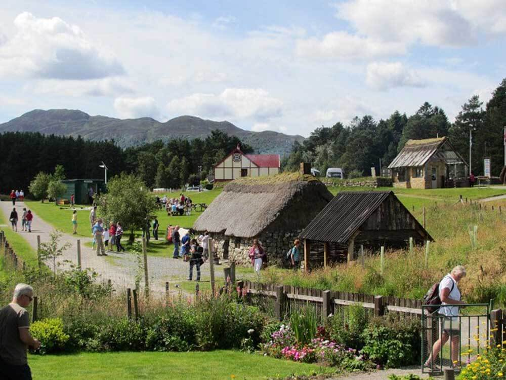Scene from the Highland Folk Museum in Scotland