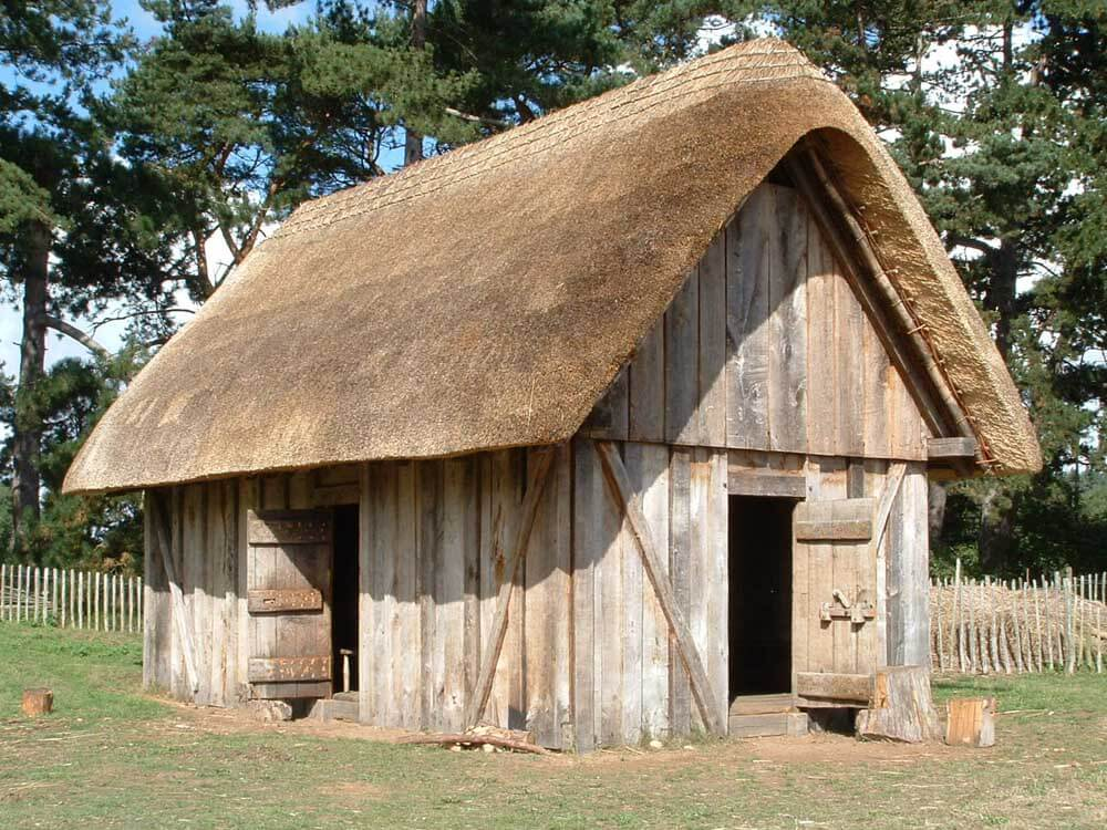 Anglo Saxon thatched hall at West Stow village and country park