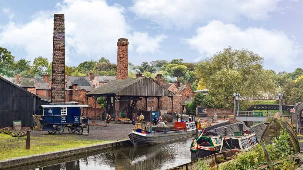 Boat dock at Black Country Living Museum