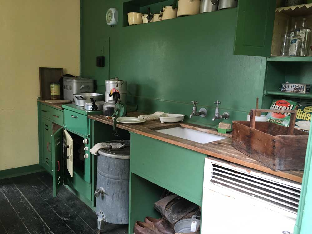 interior of pre-feb house at Chiltern Open Air Museum