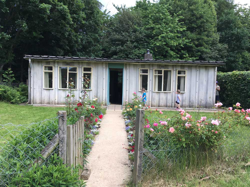 prefab building at Chiltern Open Air Museum in the UK
