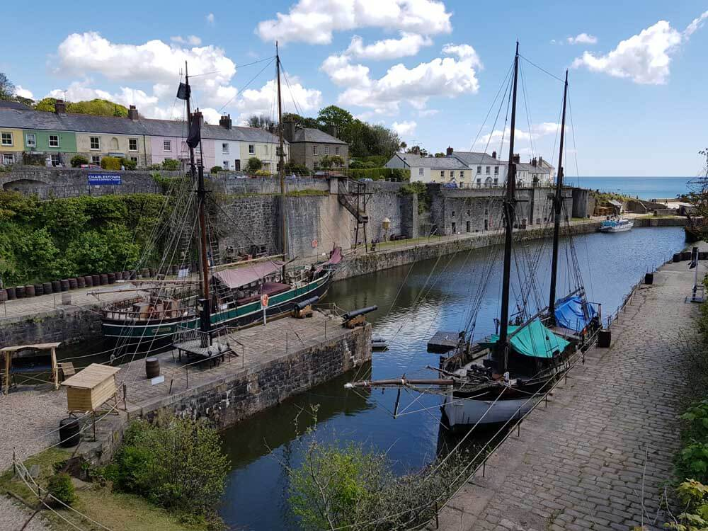 Historic dockyard in Cornwall