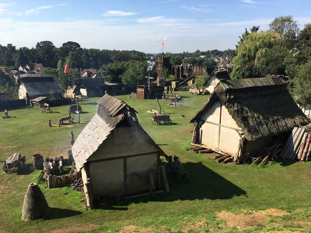 Recreated medieval village at Mountfitchet