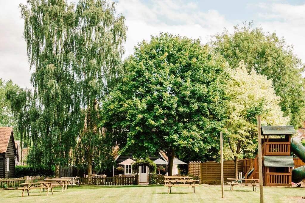 Pub garden of Sword Inn Hand
