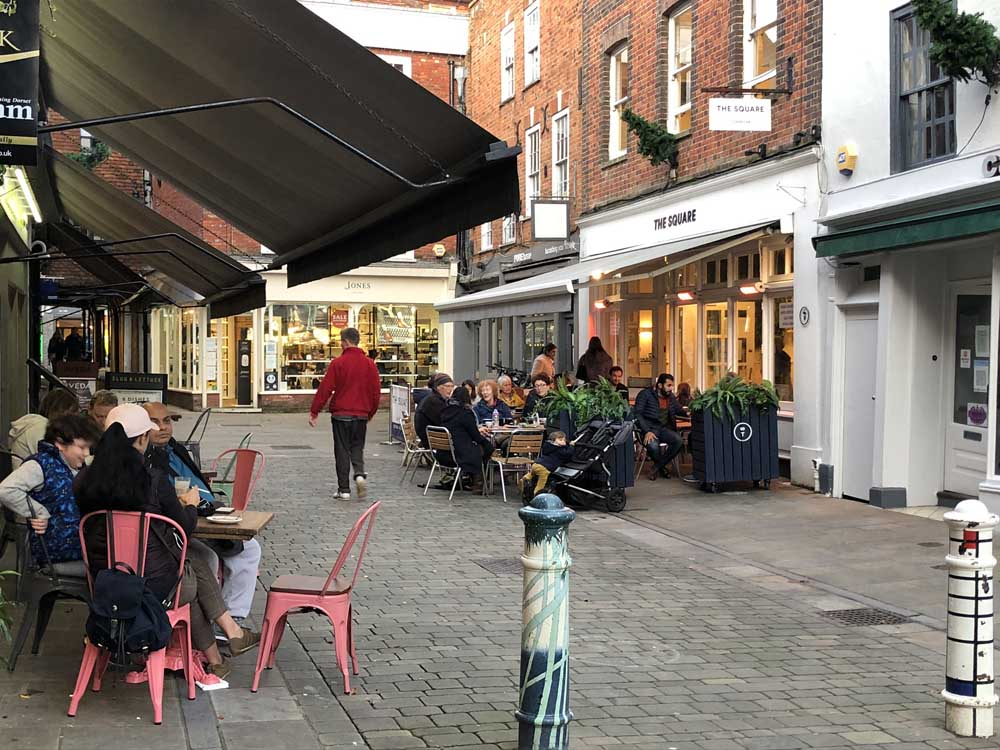 Winchester city centre, urban places to visit outside