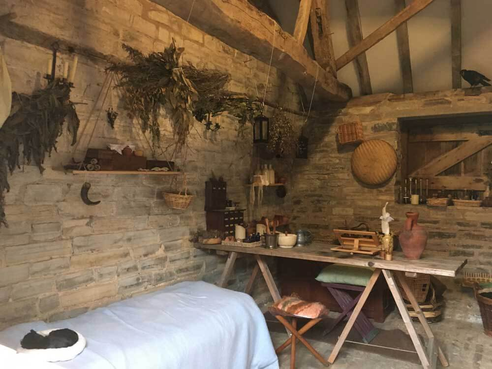 Recreated interior of Tudor home at Mary Ardens Farm in Warwickshire