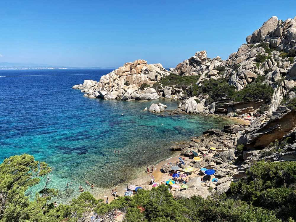 Rocky cove in Sardinia