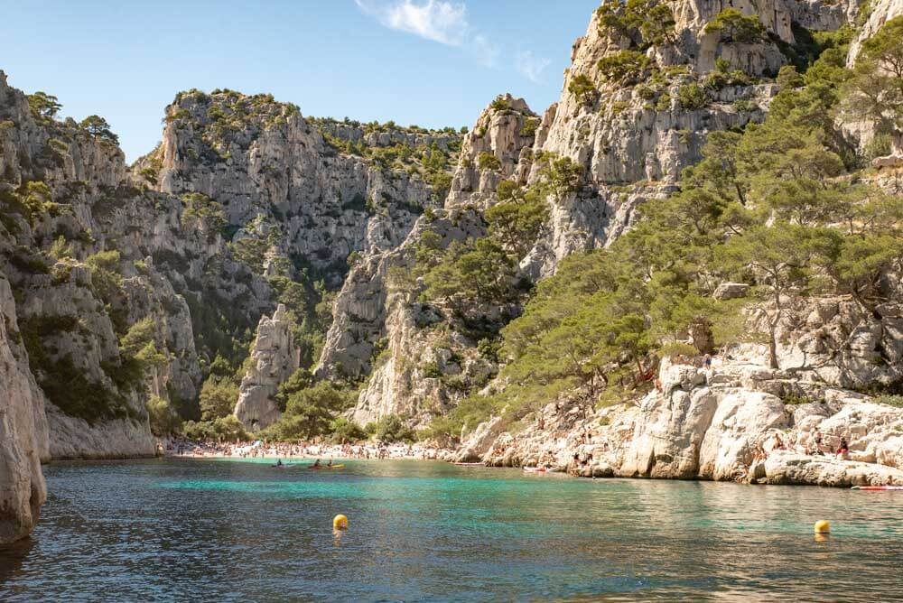 Calanque den Vau rocky inlet in southern france