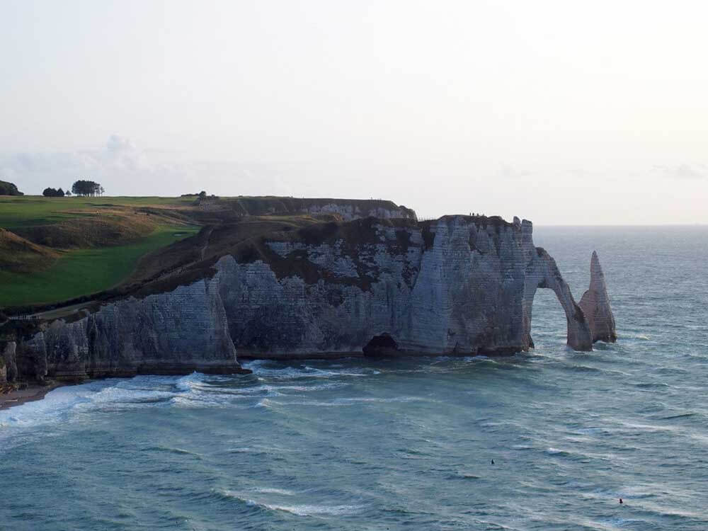 White cliffs of Etretat in Normandy, France