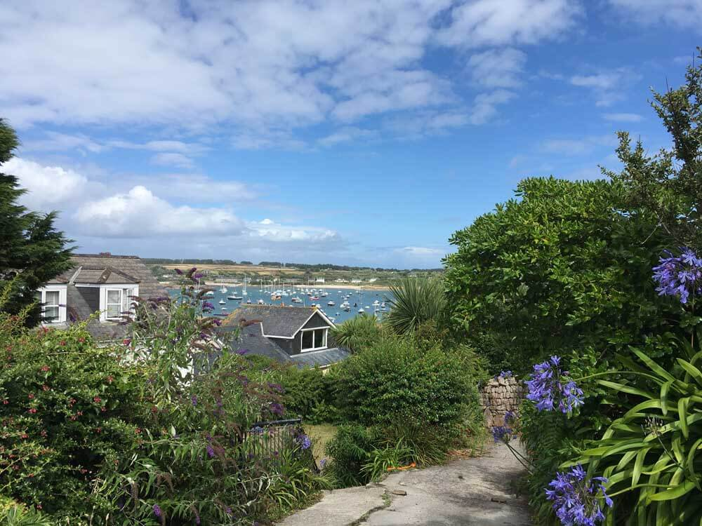 One of the best beach towns in Europe View of the sea from Hugh Town in the Scilly Isles
