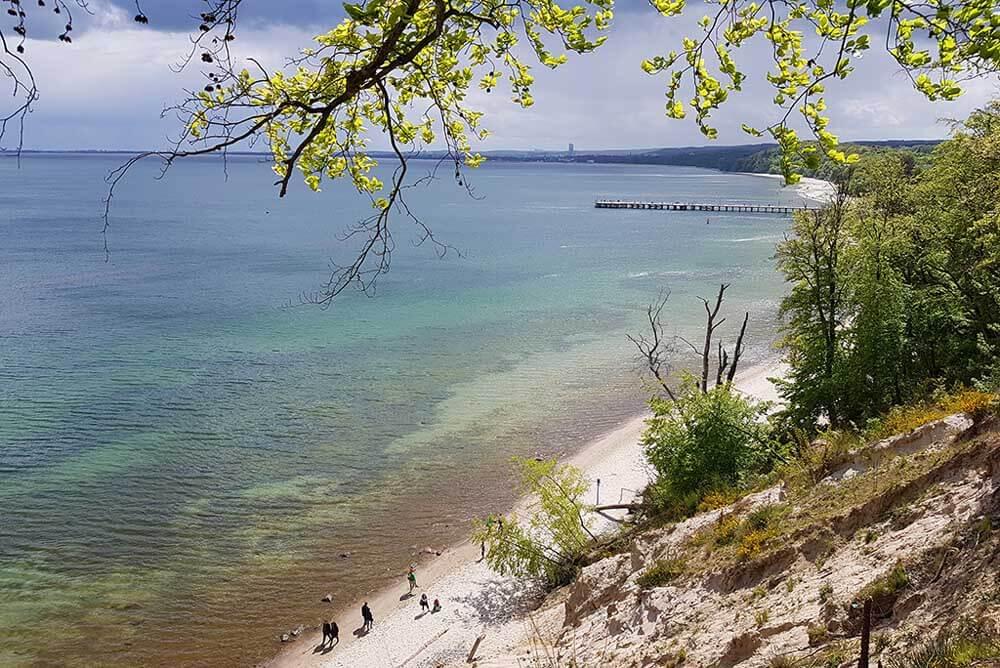 The coast near the beach town of Sopot in Poland