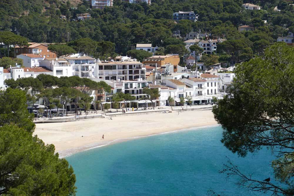 View of Llanfranc on the Costa Brava in Spain