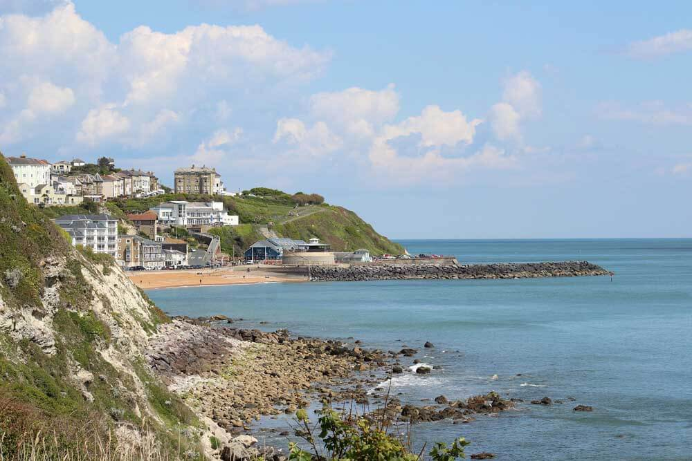 Coastal town of Ventnor on the Isle of Wight