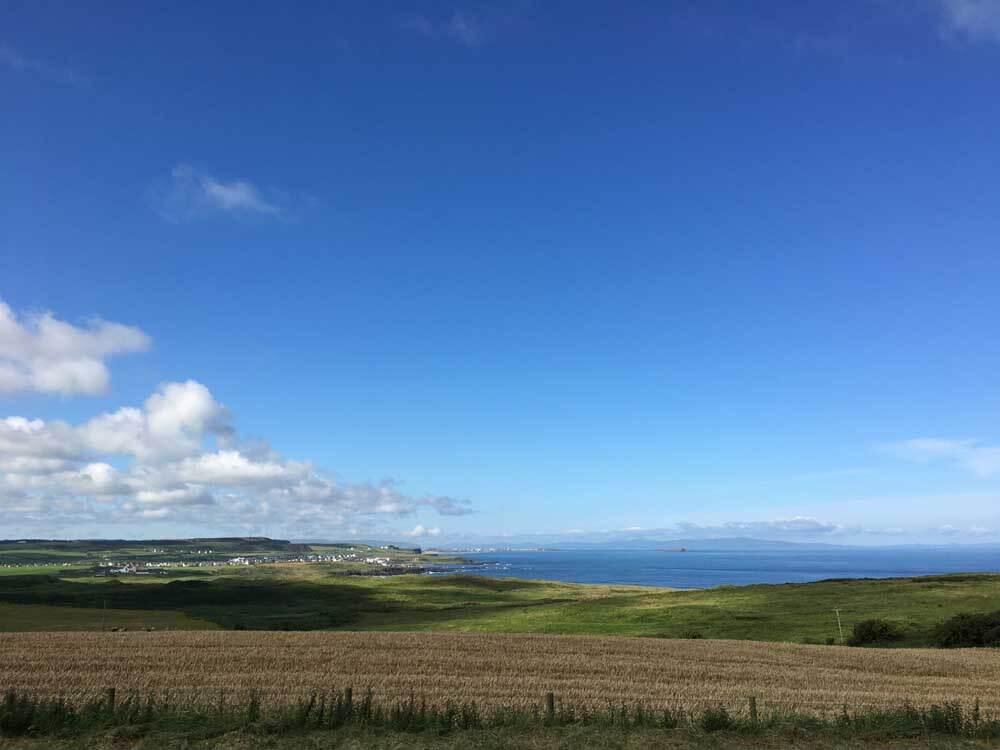 Coastal scenery on UK road trip