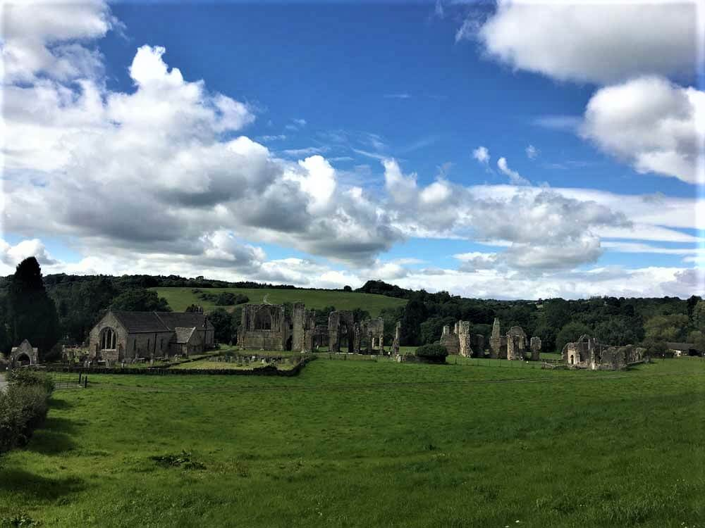 Ruined abbey in North Yorkshire