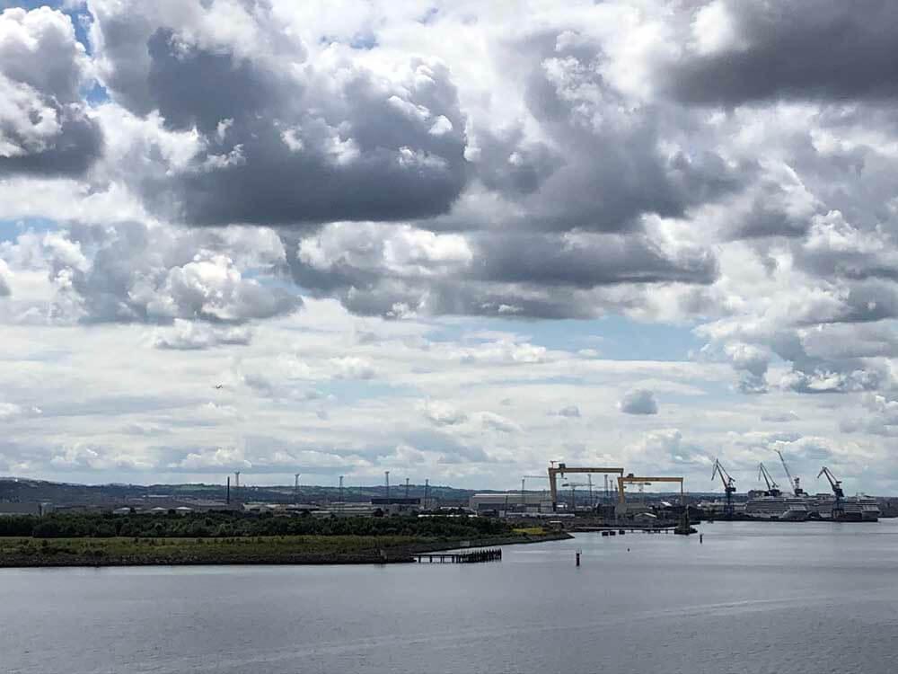 Approaching Belfast by ferry