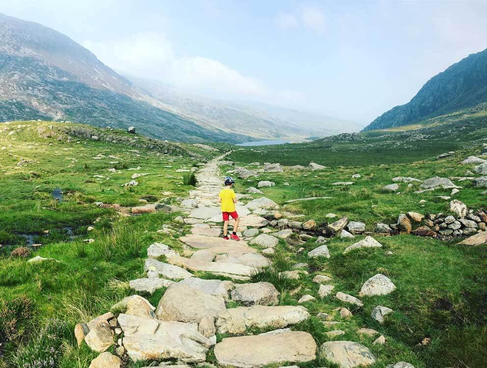 The path to Llyn Idwal in Wales