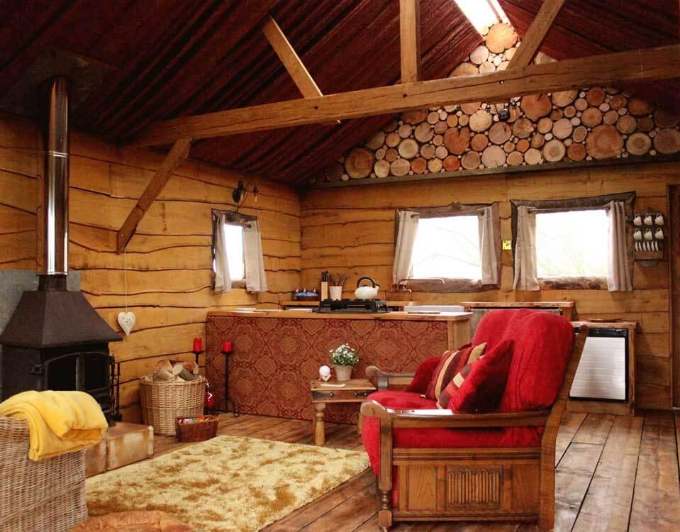 Hertfordshire glamping interior
