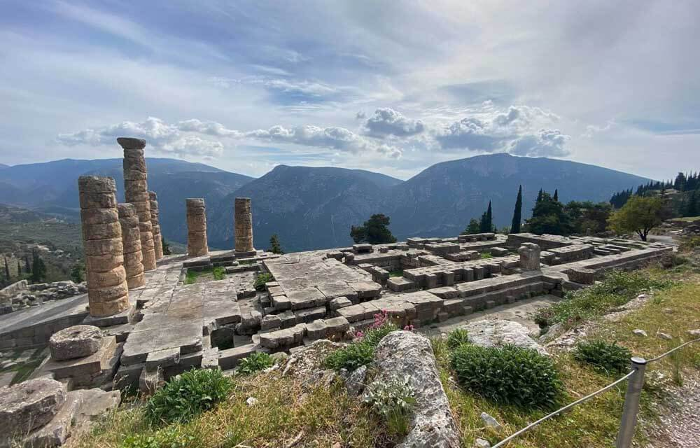 Ruins at Delphi in Greece