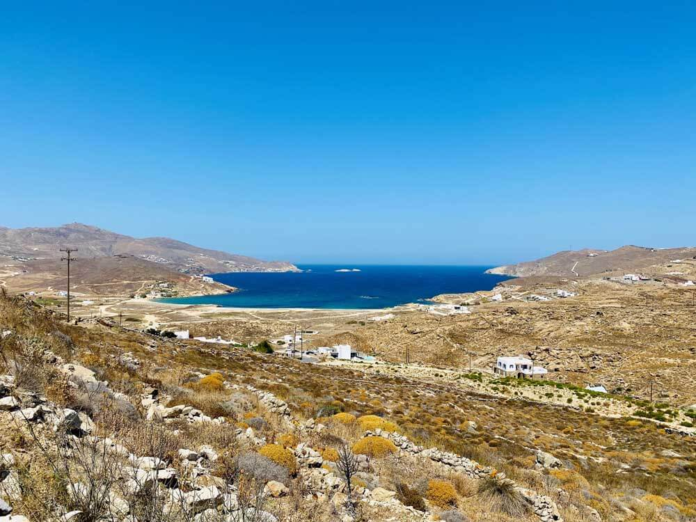 landscape of Greek island of Iraklia